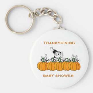 THANKSGIVING BABY SHOWER FAVORS KEYCHAIN