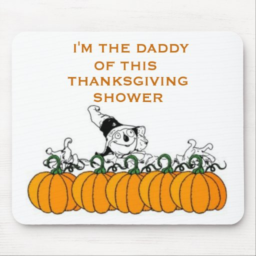 THANKSGIVING BABY SHOWER GIFT IDEAS MOUSEPADS