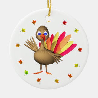 Thanksgiving Baby Turkey Ceramic Ornament