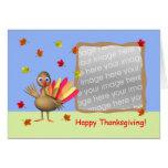 Thanksgiving Baby Turkey (photo frame) Card
