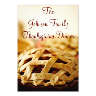 Thanksgiving Baked Pie Holiday Invitations
