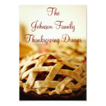 "Thanksgiving Baked Pie Holiday Invitations 3.5"" X 5"" Invitation Card"