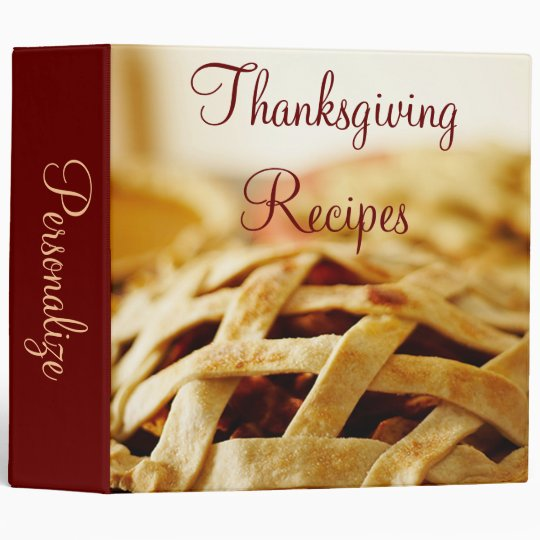 Thanksgiving Baked Pie Recipe Binder