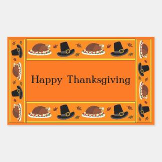 Thanksgiving Banner Rectangular Sticker