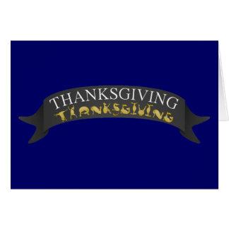 Thanksgiving banner written in ponies! card