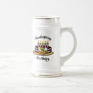 Thanksgiving Birthday Beer Stein