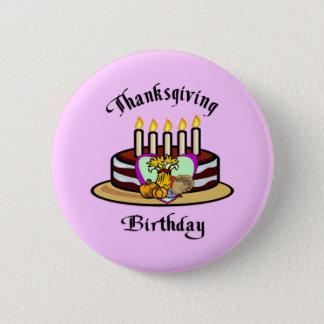 Thanksgiving Birthday Button