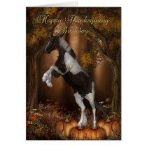 Thanksgiving Birthday Card, Happy Thanksgiving Bir Card