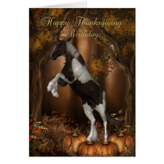 Thanksgiving Birthday Card, Happy Thanksgiving Bir Card