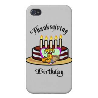 Thanksgiving Birthday iPhone 4/4S Covers