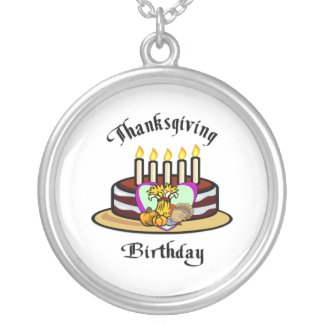 Thanksgiving Birthday necklace
