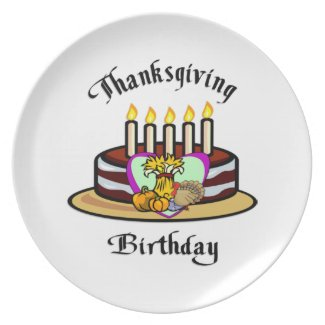 Thanksgiving Birthday Party Plates