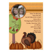 Thanksgiving Birthday - Photo Invitation