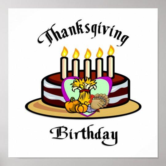 Thanksgiving Birthday Poster