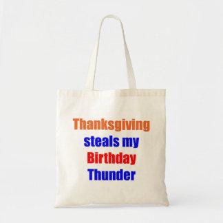 Thanksgiving Birthday Thunder Bag