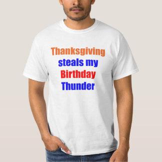Thanksgiving Birthday Thunder T-Shirt