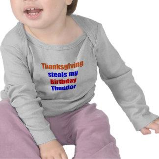 Thanksgiving Birthday Thunder T Shirts