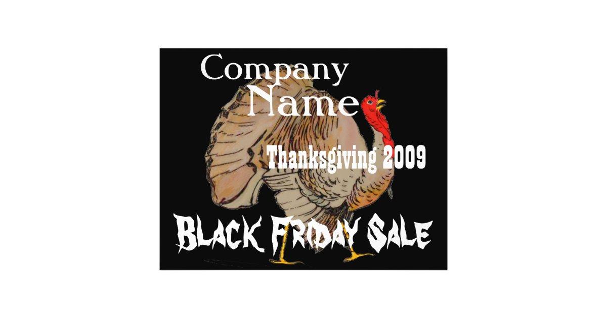 Thanksgiving black friday sale flyer zazzle - 3 suisses black friday ...