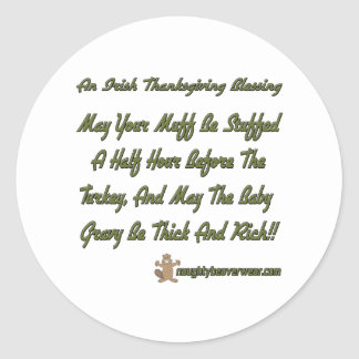 Thanksgiving Blessing Classic Round Sticker