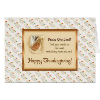 Thanksgiving Blessing Greeting Card with Quote