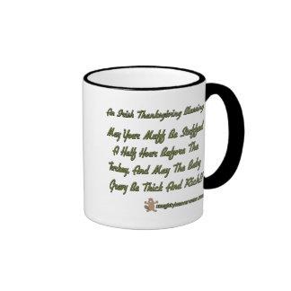 Thanksgiving Blessing Ringer Coffee Mug