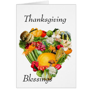 Thanksgiving Blessings Card at Zazzle