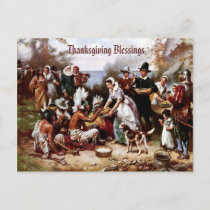Thanksgiving Blessings. Customizable Postcard