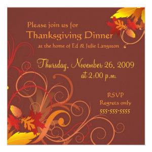 Thanksgiving Blessings - Dinner Invitation