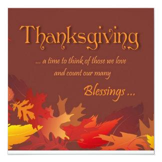 Thanksgiving Blessings - Dinner Party Invitation