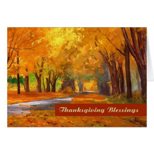 Thanksgiving Blessings. Fine Art Greeting Card at Zazzle
