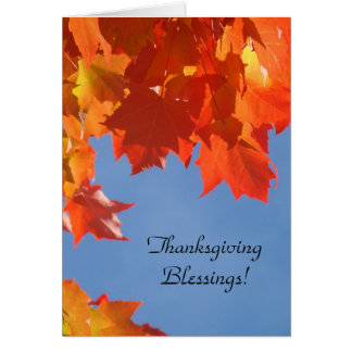 Thanksgiving Blessings! greeting Cards Holidays