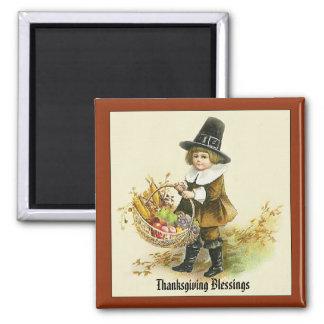 Thanksgiving Blessings Pilgrim Boy Magnet