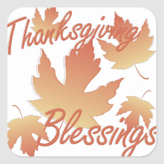 Thanksgiving Blessings Square Sticker