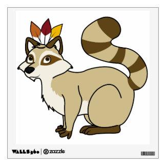 Thanksgiving Blonde Raccoon with Indian Headdress Wall Sticker