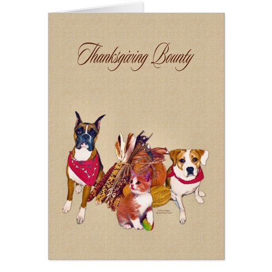 Thanksgiving Bounty Card