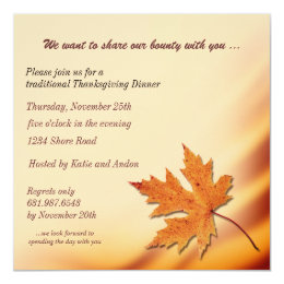 Thanksgiving Bounty Invitatin Card