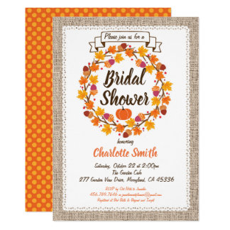 Thanksgiving bridal shower invitation wreath