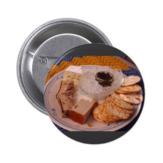 Thanksgiving Brie Caviar Duck Pate Pinback Button