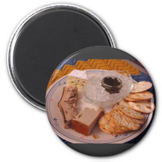 Thanksgiving Brie Caviar Duck Pate Refrigerator Magnet