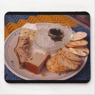 Thanksgiving Brie Caviar Duck Pate Mouse Pad