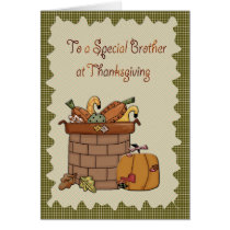 Thanksgiving Brother Card