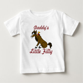 Thanksgiving Brown Horse with Turkey Feathers Baby T-Shirt