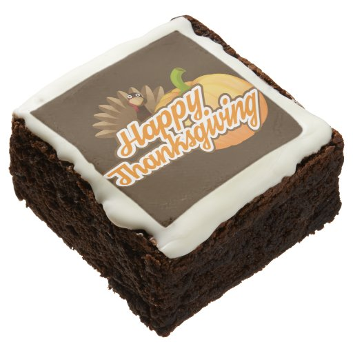 Thanksgiving Brownies Square Brownie