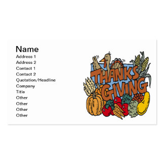 Thanksgiving Double-Sided Standard Business Cards (Pack Of 100)