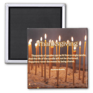 Thanksgiving Candles Refrigerator Magnets