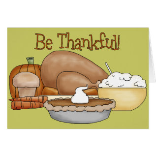 Thanksgiving Card at Zazzle