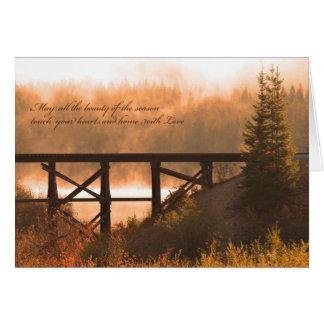 Thanksgiving Card / Autumn Scene Thanksgiving Card