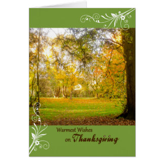 Thanksgiving card Fall Colors curlicues