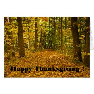 Thanksgiving card Fall Path