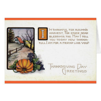 Thanksgiving Card For Friend